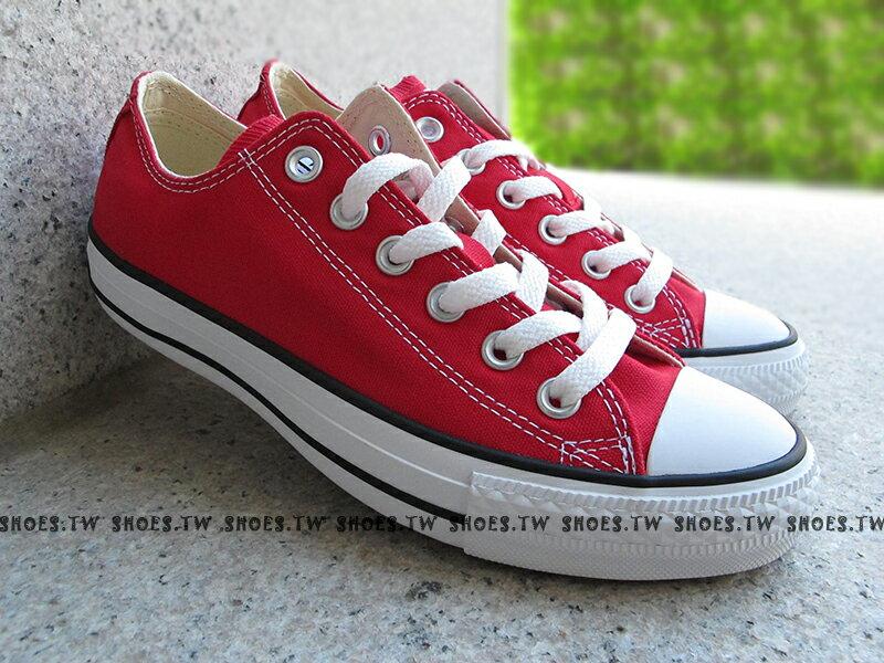 [22cm]《限量5折》【170421、M9696C】CONVERSE 基本款 帆布鞋 低筒 紅色