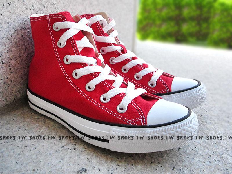 《限量5折》【170405、M9621C】CONVERSE 帆布鞋 ALLSTAR 基本款 高筒帆布 紅色
