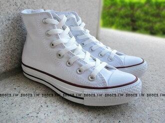 [26.5cm]《限量5折》【XXXU170401、M7650C】CONVERSE 帆布鞋 ALLSTAR 基本款 高筒帆布 白色 男女都有
