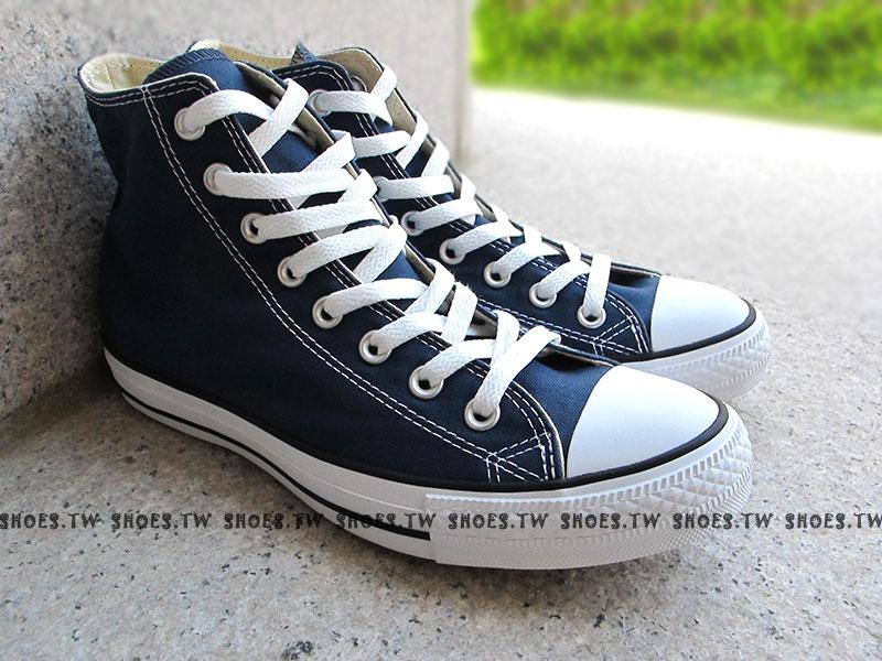 [26cm]《限量5折》Shoestw【170406、M9622C】CONVERSE 帆布鞋 ALLSTAR 基本款 高筒帆布 海軍藍色