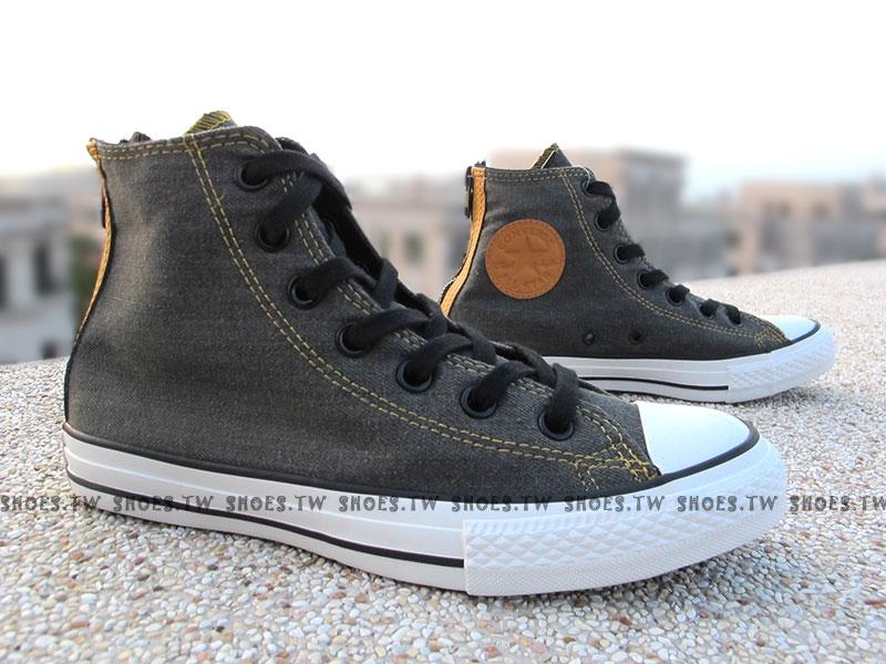 《限量5折》Shoestw【147914C】CONVERSE 帆布鞋 丹寧牛仔布 高筒 後拉鍊 深灰 男女都有