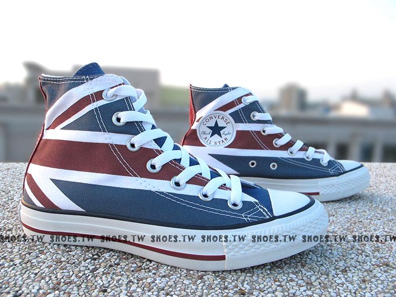 《限量5折》Shoestw【138449C】經典款式 CONVERSE 英國國旗 仿舊 英格蘭 高筒 男女款