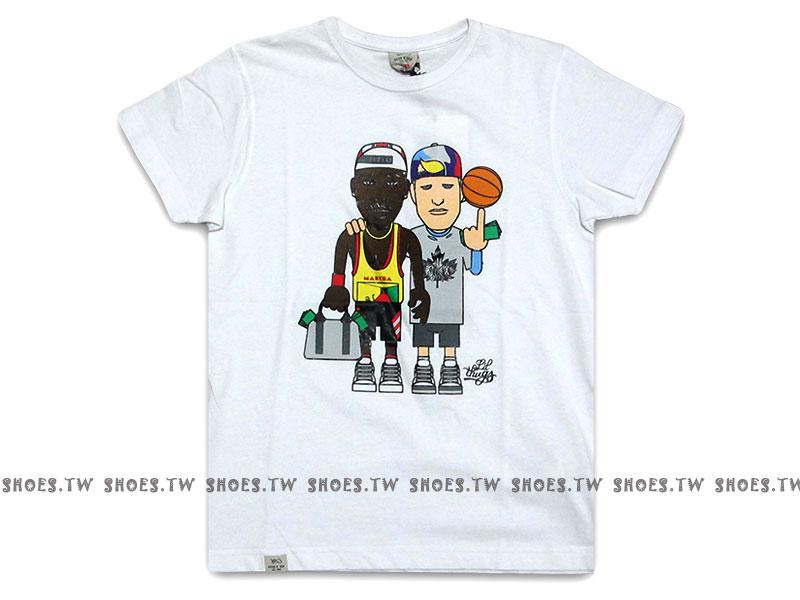 Shoestw【120007141900】K1X 德國街頭籃球服飾 短袖 短T 白色 中性款 男女都可穿