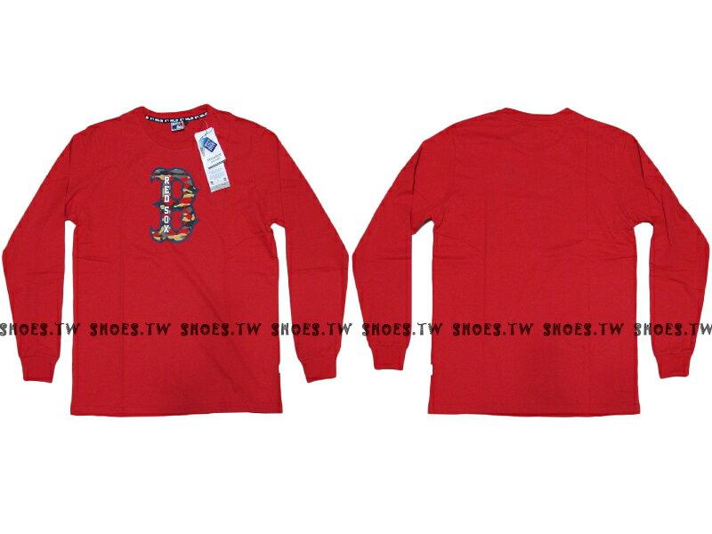 Shoestw【5460106150】MLB 美國大聯盟 MAJESTIC 長袖 薄長袖 紅襪 紅色 0