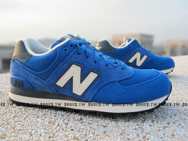 [22.5cm]《超值5折》【ML574PCB】NEW BALANCE NB574 復古 藍 麂皮 硬版 情侶款