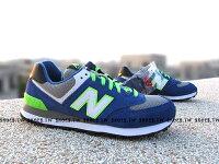 New Balance 美國慢跑鞋/跑步鞋推薦[25cm]《超值58折》Shoestw【ML574CBG】NEW BALANCE NB574 復古慢跑鞋 藍螢光綠 麂皮