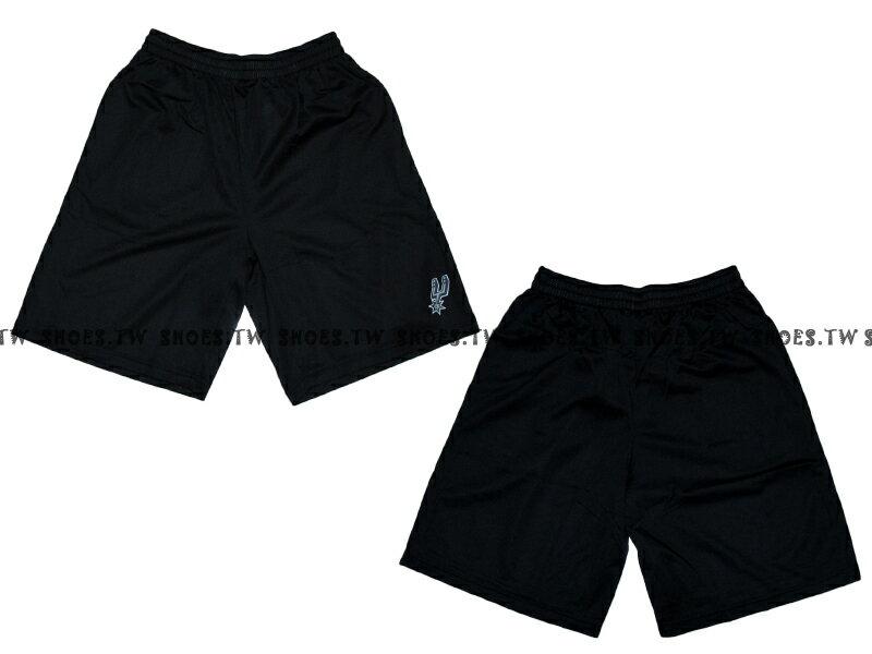 《限時5折》Shoestw【8330504020】NBA 籃球褲 透氣排汗 熱身褲 聖安東尼奧 馬刺隊 黑色