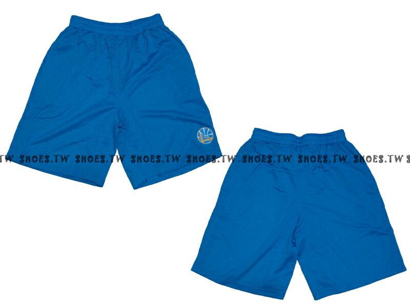 【8330504023】NBA 籃球褲 透氣排汗 熱身褲 金州 勇士隊 水藍色