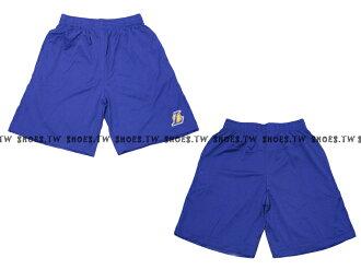 【8330504025】NBA 籃球褲 透氣排汗 熱身褲 洛杉磯 湖人隊 紫色
