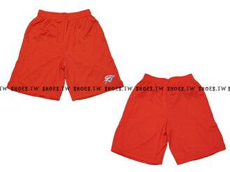 【8330504029】NBA 籃球褲 透氣排汗 熱身褲 KD 奧克拉 雷霆隊 橘色