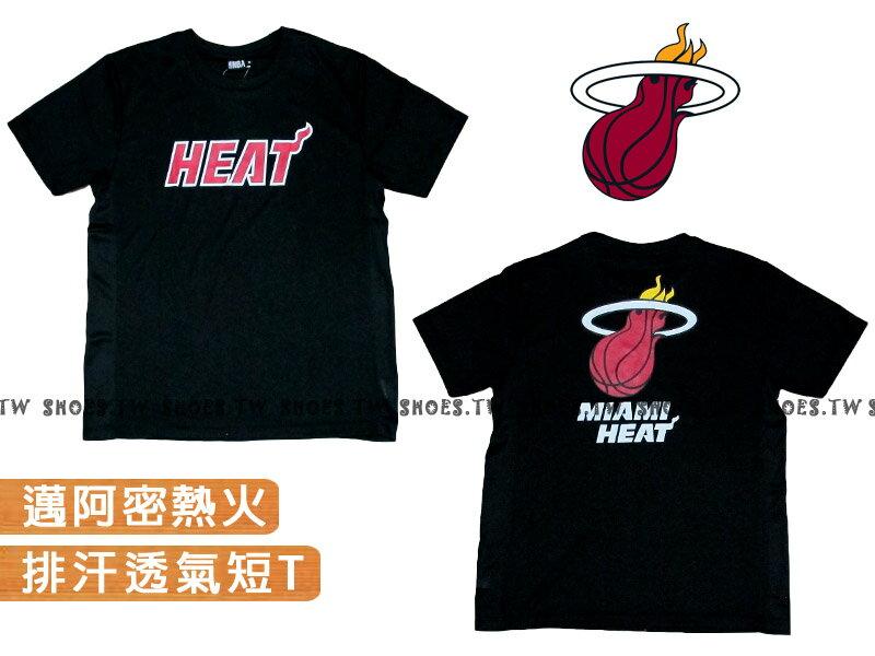 《限時5折》Shoestw【8260213002】NBA 排汗短袖 T恤 邁阿密 熱火隊 黑色