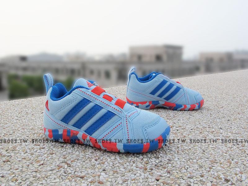 Shoestw【B40084】ADIDAS NatWeb I 小童鞋 帆布鞋 藍迷彩 鬆緊帶