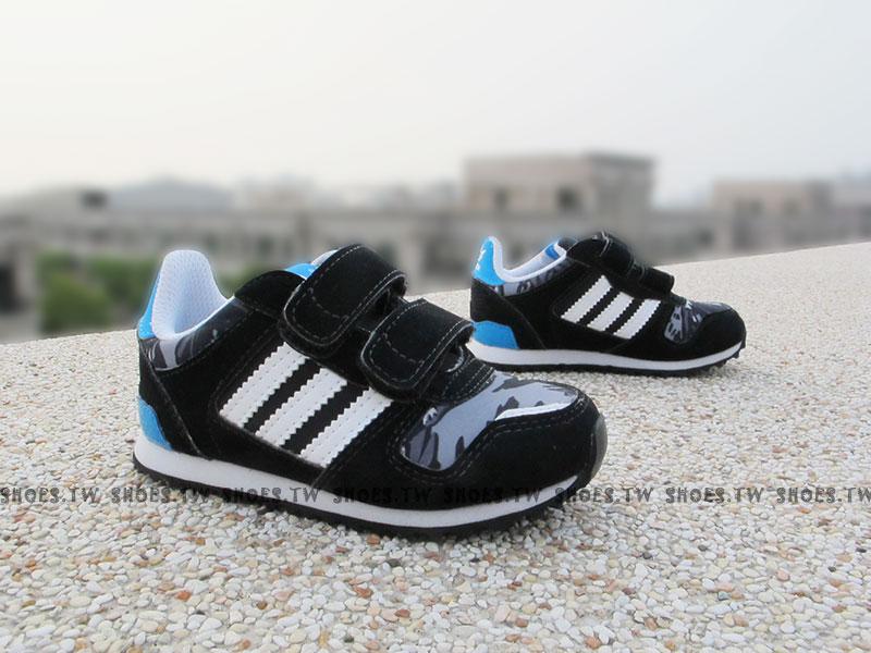 [15cm] Shoestw【M17023】ADIDAS ZX 700 CF I 小童鞋 黑 黏帶