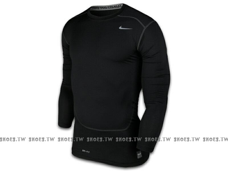 Shoestw【449794010】NIKE PRO 萊卡 DRI-FIT 緊身束衣 保暖 長袖 排汗 黑色