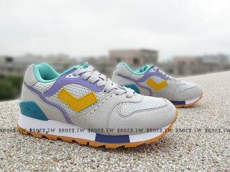 《超值990》Shoestw【52W1MK62GY】PONY MARK8 復古慢跑鞋 內增高 灰黃 短V 女款 歐陽妮妮