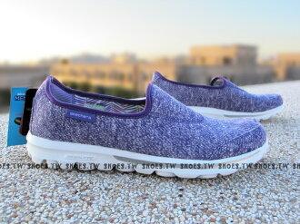 【13773PUR】SKECHERS 健走鞋 輕便鞋 GO WALK 紫 編織 女款