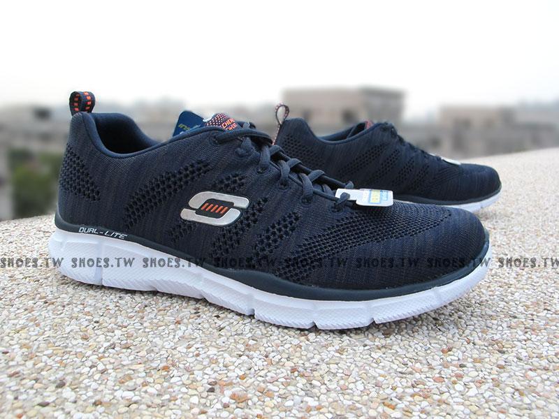 [29cm]《降價69折》Shoestw【51387NVY】SKECHERS 健走鞋 Flyknit 記憶鞋墊 深藍 男生尺寸