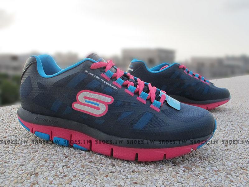 鞋殿【13900AQUA】SKECHERS 陳意涵代言 慢跑鞋 健走鞋 NITE OWL 夜鶯 夜光 U型設計 水藍 女款