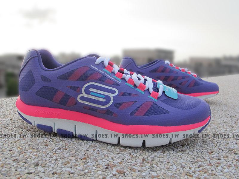 [24cm]《出清5折》Shoestw【99999871PUR】SKECHERS 健走鞋 U型鞋設計 SHAPE UPS 記憶乳膠鞋墊 紫桃