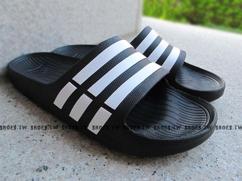 鞋殿【G15890】ADIDAS DURAMO SLIDE 拖鞋 一體成型 黑色 男女都有 0