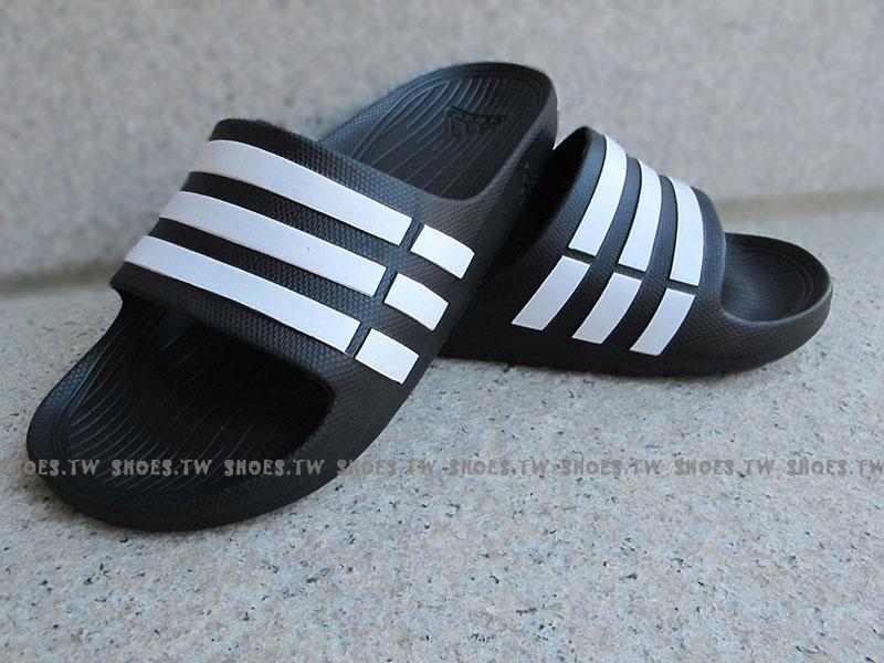 鞋殿【G15890】ADIDAS DURAMO SLIDE 拖鞋 一體成型 黑色 男女都有 1