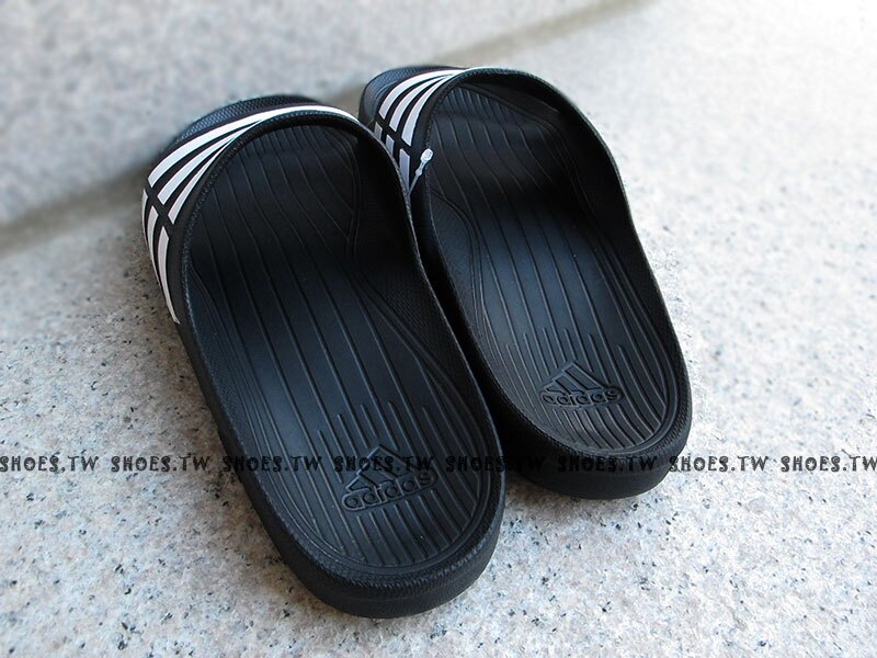 鞋殿【G15890】ADIDAS DURAMO SLIDE 拖鞋 一體成型 黑色 男女都有 2