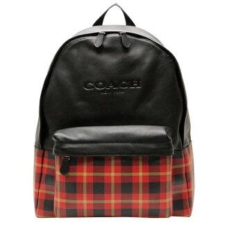 COACH F55394 新款時尚男士格子拼布背包雙肩包男包