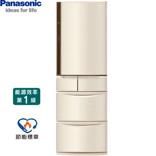 Panasonic國際NR-E412VT-N1香檳金411L電冰箱日本製系列