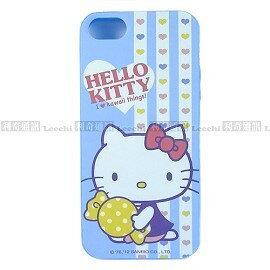 Hello Kitty 手機保護殼 PU軟殼 (粉藍) iPhone 5 / iPhone 5S【三麗鷗Sanrio授權】*清倉價*