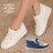 格子舖*【KR191】嚴選熱賣款 璀璨閃耀寶石 厚底內增高 百搭實穿鬆高鞋 帆布鞋 2色 0