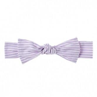 日本【NIVA】嬰幼兒超可愛純棉髮帶(條紋粉紫)