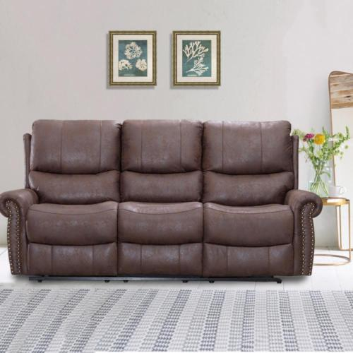 Factory Direct Recliner Sofa Set Reclining Couch Sofa Leather 3