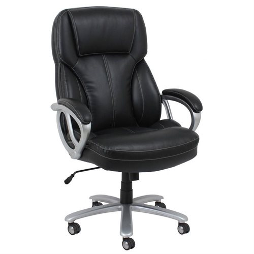 Essentials by OFM ESS 202 Big and Tall Leather Executive Office Chair with  Arms Office Essentials   Rakuten  Essentials by OFM ESS 202 Big and  . Silver Office Chair. Home Design Ideas