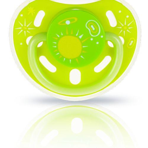 ★衛立兒生活館★kidsme 夜光安撫奶嘴-綠黃6個月以上使用