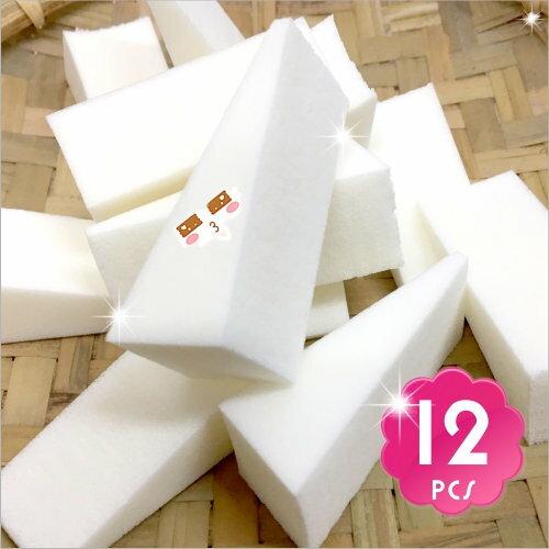 貝麗瑪丹N423安濕兩用化妝(三角)海綿粉撲-12入 [54646]