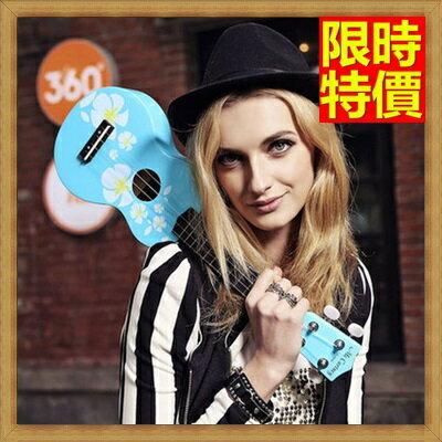 烏克麗麗  ukulele-小花繪畫椴木合板21吋夏威夷吉他四弦琴弦樂器5款69x10【獨家進口】【米蘭精品】