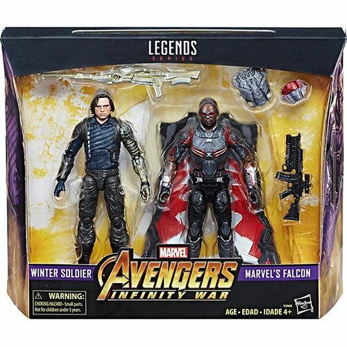 《 漫威超級英雄 》漫威6吋傳奇人物組 - 酷寒戰士&獵鷹 兩入組