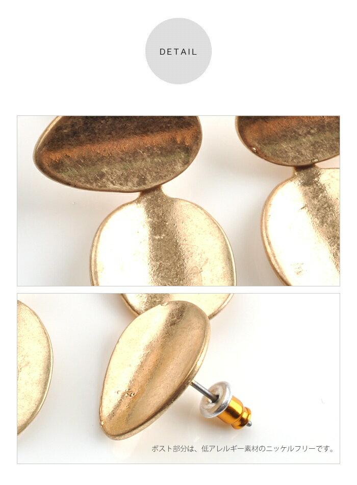 日本CREAM DOT  /  ピアス フックピアス イダブルプレート ヴィンテージ調 ダメージ 加工 メタル 金属アレルギー ニッケルフリー ゴールド シルバー 上品 お呼ばれ アクセサリー カジュアル outlet  /  qc0410  /  日本必買 日本樂天直送(400) 4