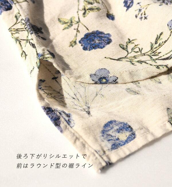 日本e-zakka / 花樣亞麻長袖上衣 / 32667-1801211 / 日本必買 代購 / 日本樂天直送(3200) 6