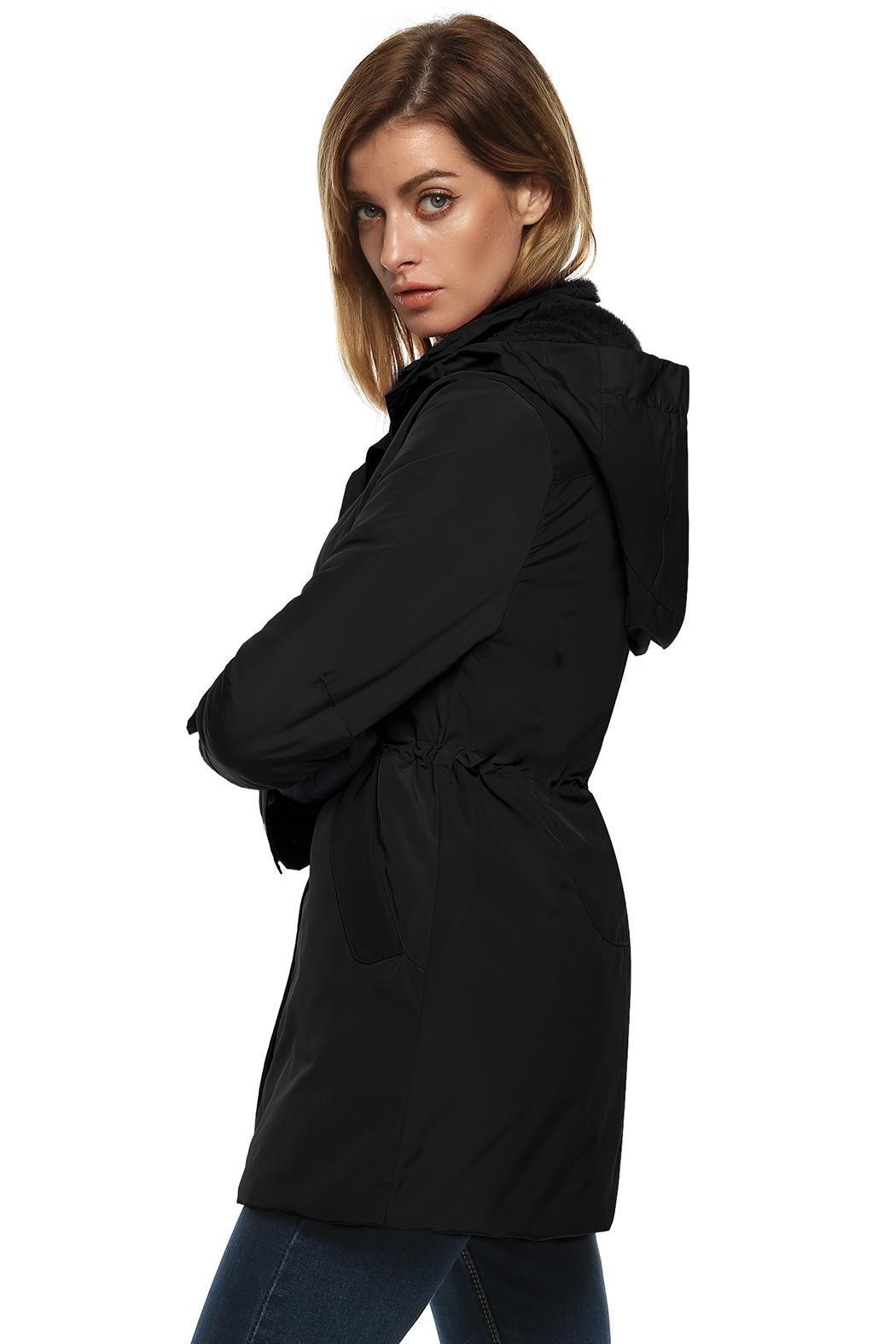 Women Casual Hooded Waterproof Windproof Long Coat Outwear 1