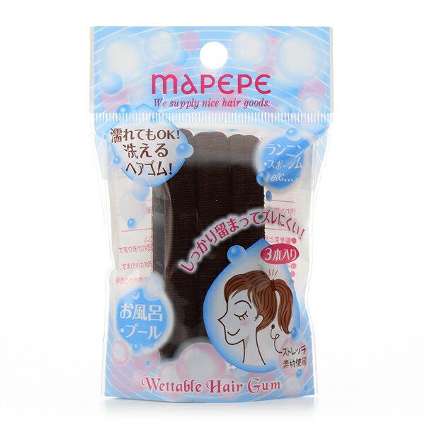 《日本製》mapepe 無縫彈力髮圈(咖) 3入 0