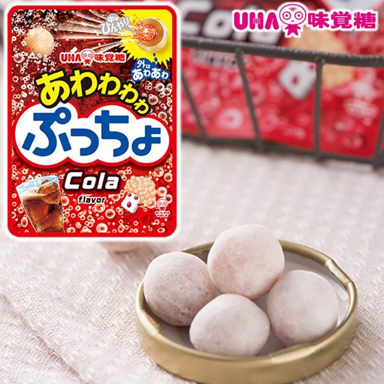 【UHA味覺糖】噗啾可樂汽水糖 碳酸糖 24g 日本零食