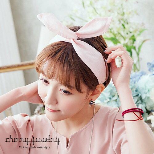 可愛兔耳扭扭髮帶【櫻桃飾品】【10578】