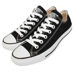 【CONVERSE】基本款 休閒鞋 黑色帆布鞋 情侶鞋 男女鞋 -M9166C