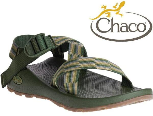 Chaco涼鞋越野運動涼鞋水陸鞋綁帶涼鞋-標準款男美國佳扣CH-ZCM01HE12手風琴綠