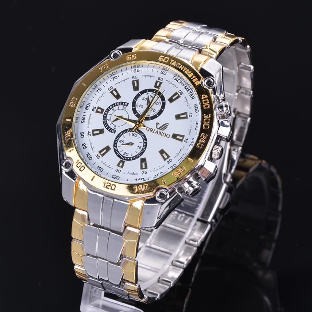 Stainless Steel  Quartz Clock Men's Wrist Watch 1