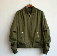 飛行外套推薦到大碼潮服《40-100公斤》飛行夾克 情侶款 男款(軍綠)  預購商品7~15日就在大碼潮服推薦飛行外套