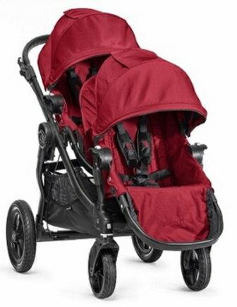 【淘氣寶寶】【黑框】Baby Jogger City Select 雙人推車/ 推車界的變形金剛【公司貨】
