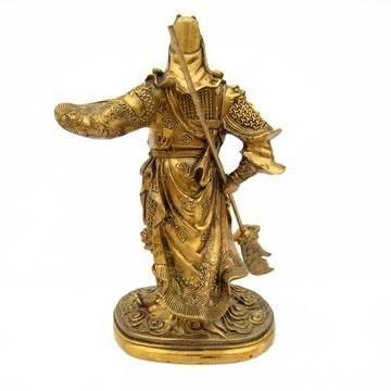 開光銅財神爺佛像關公 家居店鋪招財吉祥裝飾擺件19.5cm