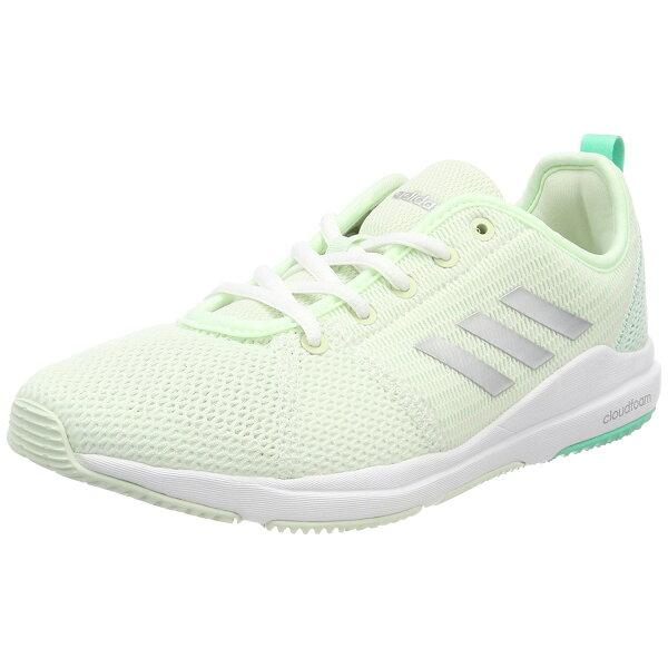 AdidasAriannaCloudfoam女鞋慢跑訓練休閒輕量透氣粉綠【運動世界】CG2847
